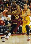 ASU's James Harden dribbling by USC's Daniel Hackett (Icon SMI)